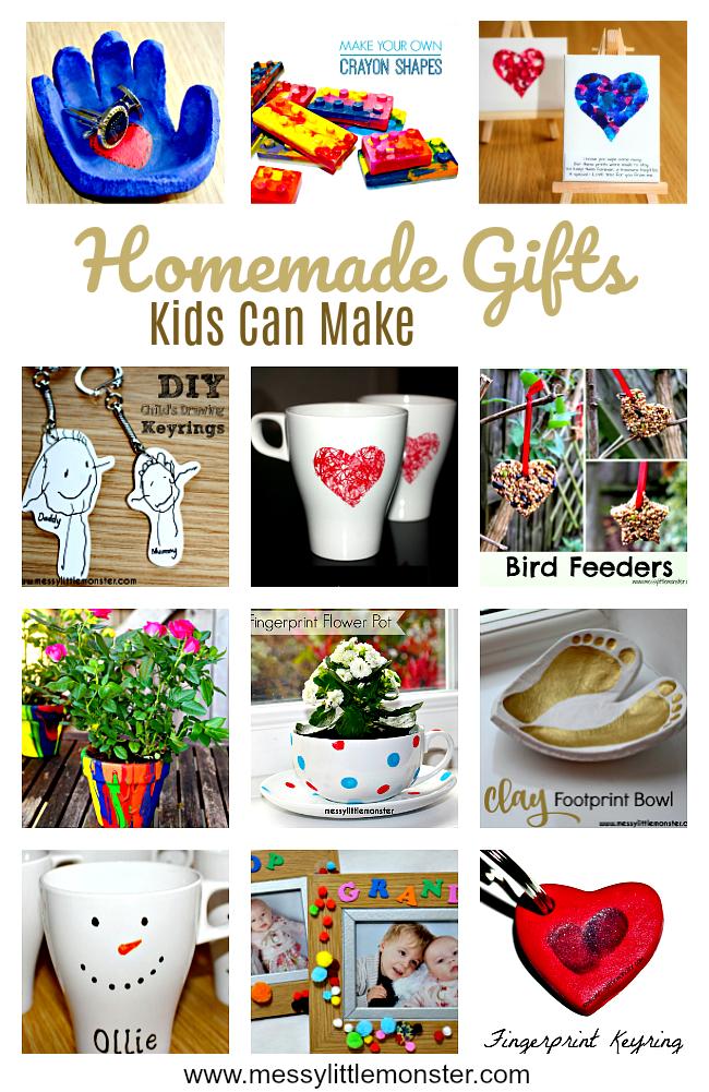 Handmade Gifts Kids Can Make Homemade kids gifts, Diy