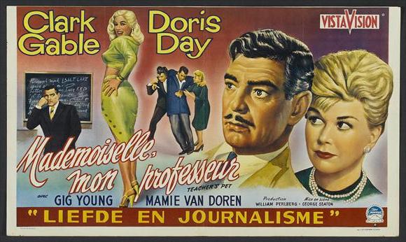 Teacher S Pet Doris Day Clark Gable Clark Gable Movies Teachers Pet