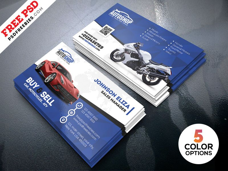 Rent A Car Business Card Free Psd With Images Printable