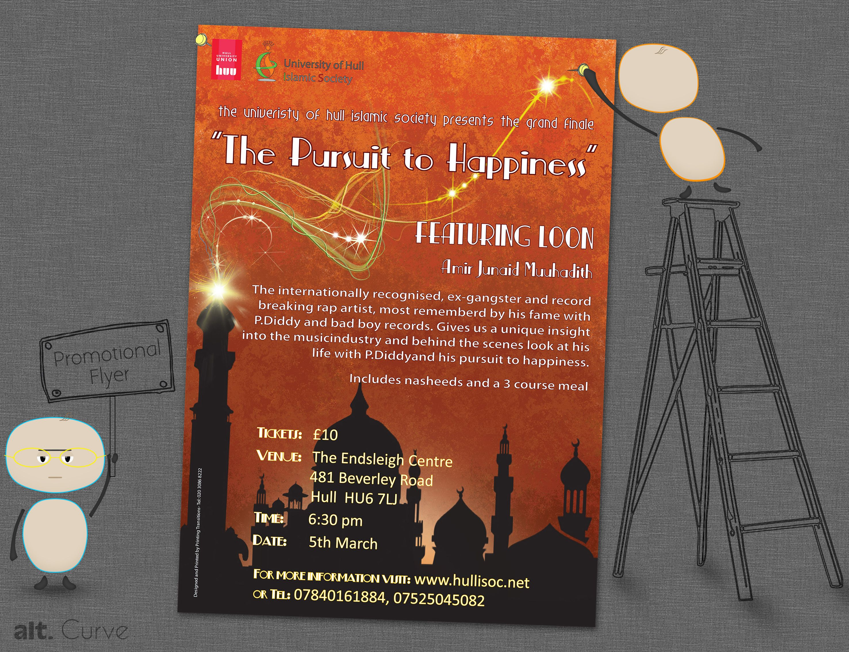 Islamic Promotional Flyer For A University Seminar  Flyer Ideas