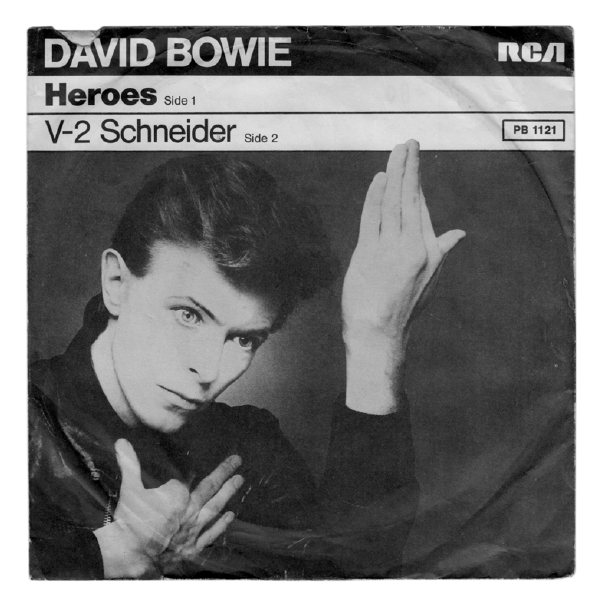 David Bowie Is A Man Of Many Faces A Fact Borne Out By The Selection Of 45 7 Inch Single Sleeves S Bowie Heroes Heroes By David Bowie David Bowie Album Covers