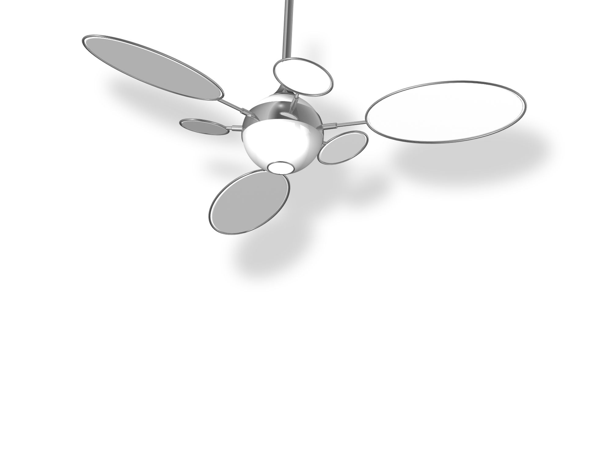 Mirrored Ceiling Fan Looks Like