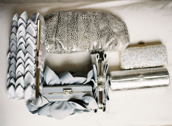a collection of chic grey clutches  Photography by annerobertphotography.com