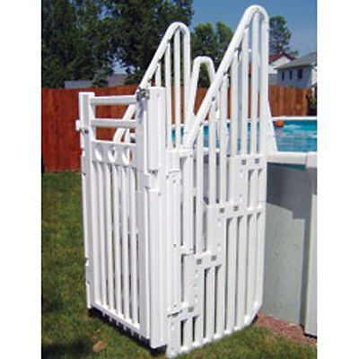 Confer Sig Aboveground Swimming Pool Entry Step Ladder W