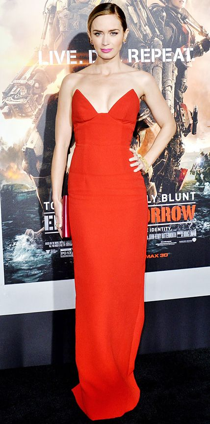 Look of the Day - May 29, 2014 - Emily Blunt in Prada from #InStyle