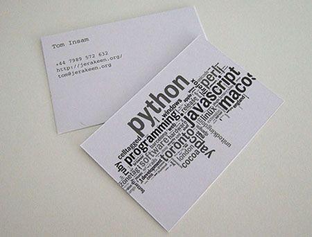 Python business card design1 word cloud pinterest business python business card design1 reheart Images