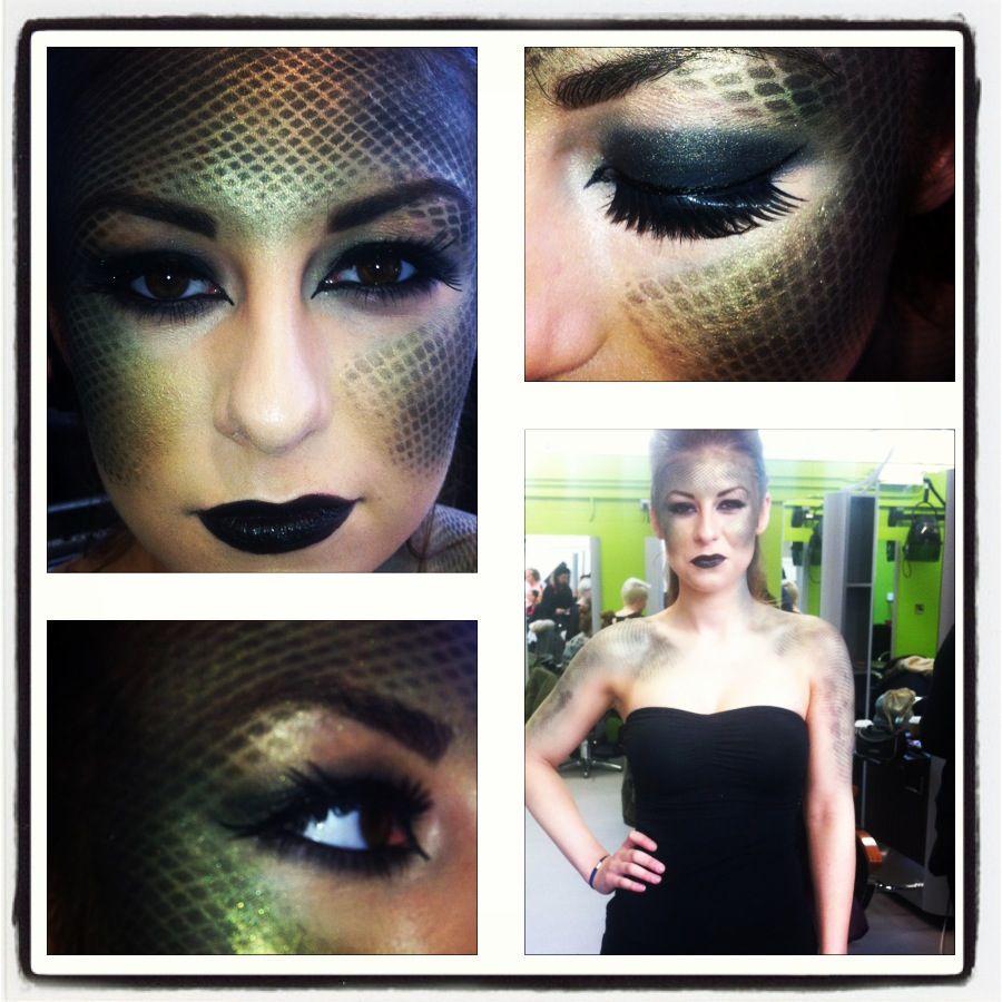 Snake Makeup Medusa Costume