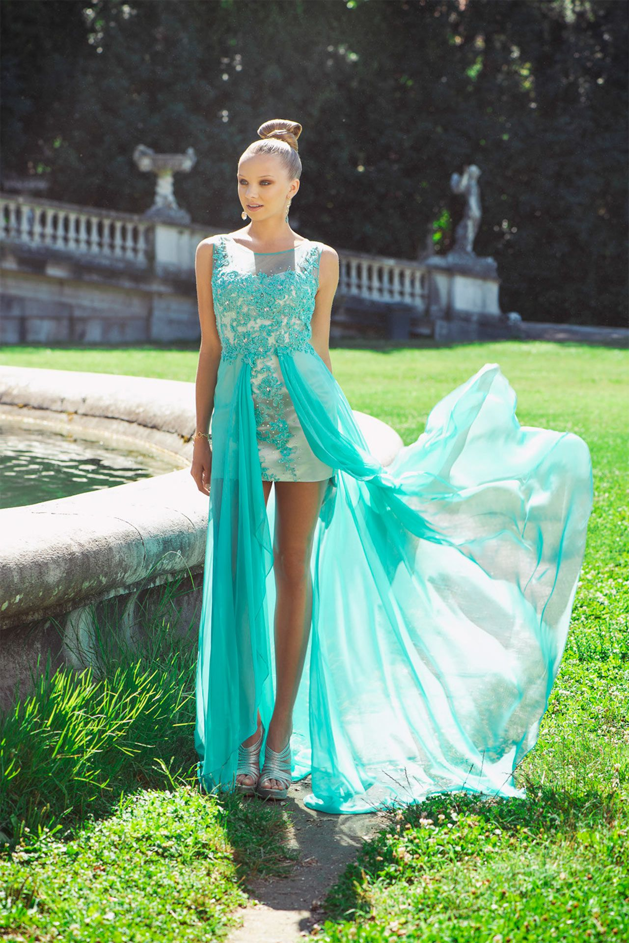 Vestiti Cerimonia Color Tiffany.Abiti Cerimonia Abito Sera Cocktaildress Dress Ceremony