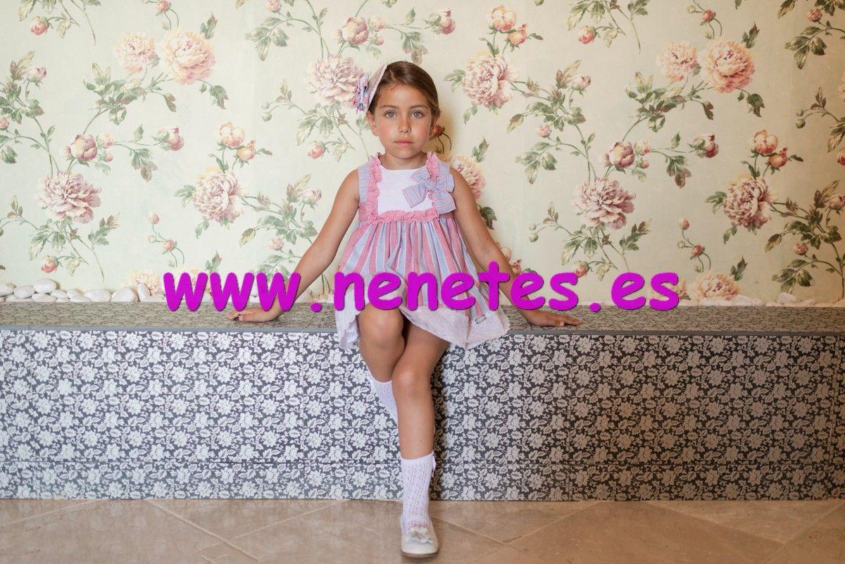 92dad7a06 Vestido de dolce petit de color fresa y azul