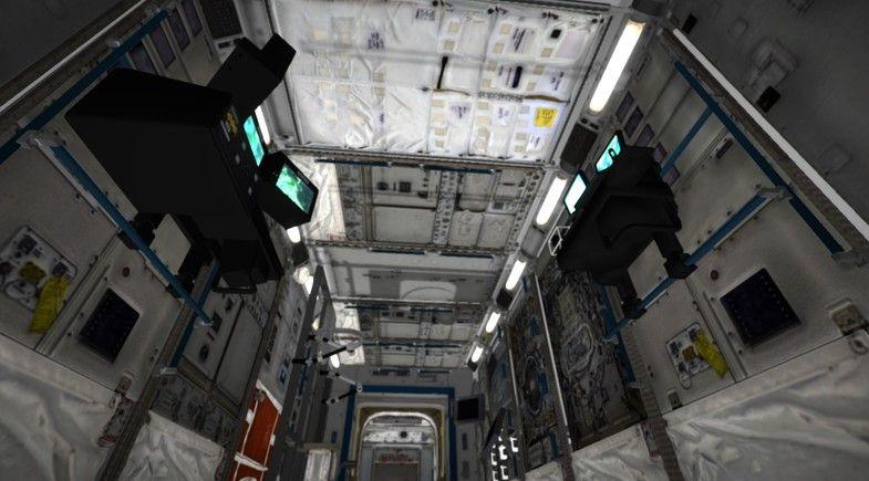 Interior Of International Space Station International Interior Space Environments Space Station International Space Station Space Station 3d