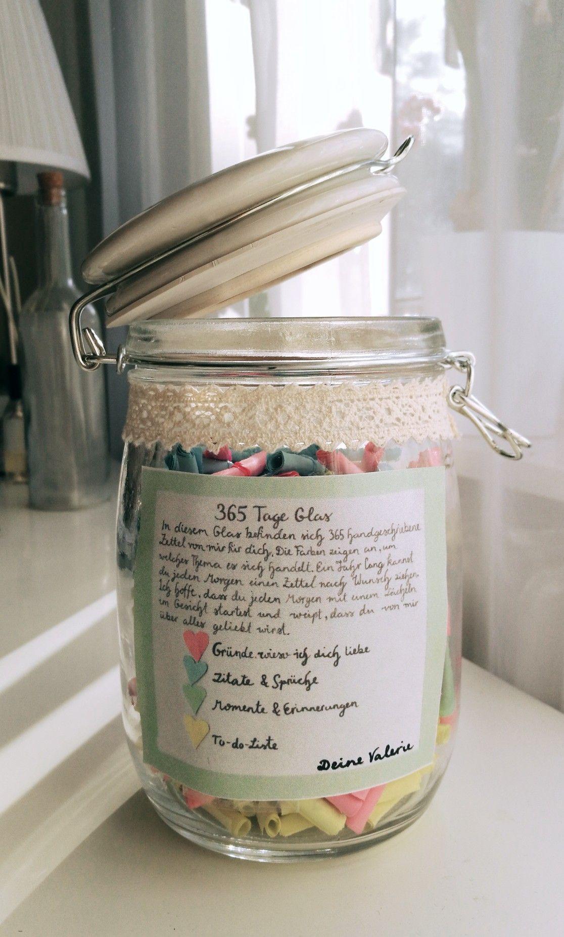 Geschenk glas zettel
