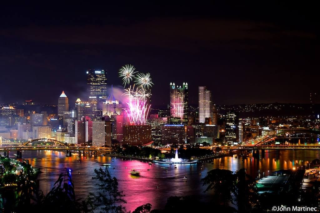 4th of July fireworks 2014 Pittsburgh city, Pittsburgh