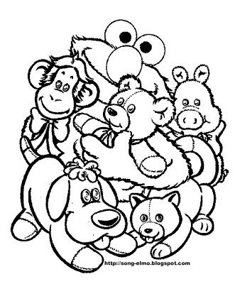 Free Elmo Coloring Pages Activity Sheets And Party Invitations