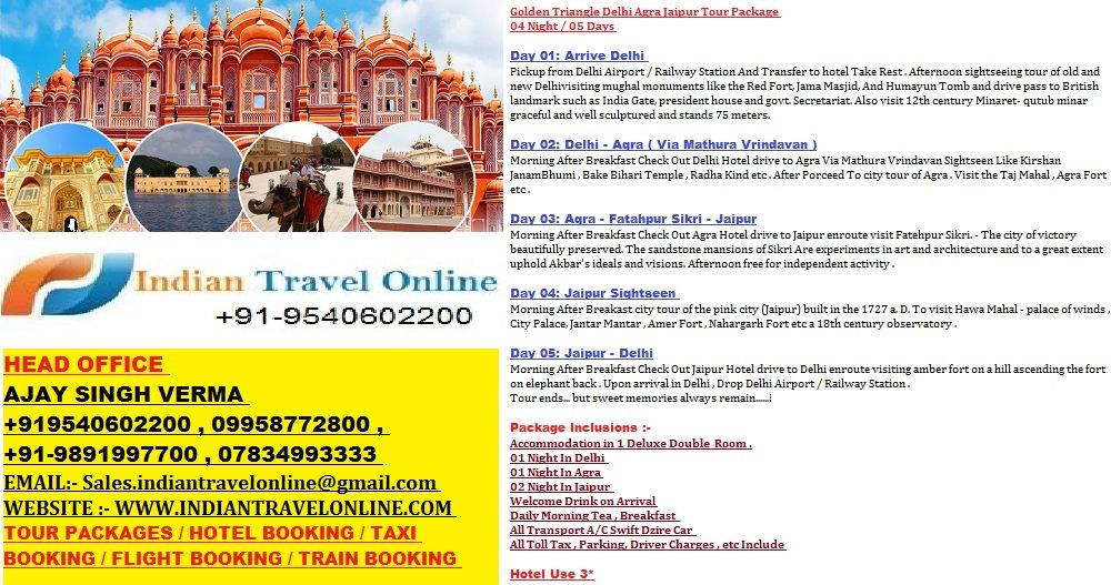Rajasthan Holiday Packages Best Offers On Rajasthan Tour Packages At Indian Travel Online Click To Book Customized Rajasth Tour Packages Tours Holiday Tours