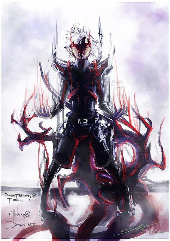 Ken Kaneki Centipede : kaneki, centipede, Black, Centipede, Chinara, Kakuja, Tokyo, Ghoul,, Ghoul, Anime,