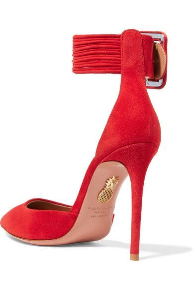 ca0ea5eadbf Aquazzura - Casablanca suede pumps | The great way to Pump yourself ...