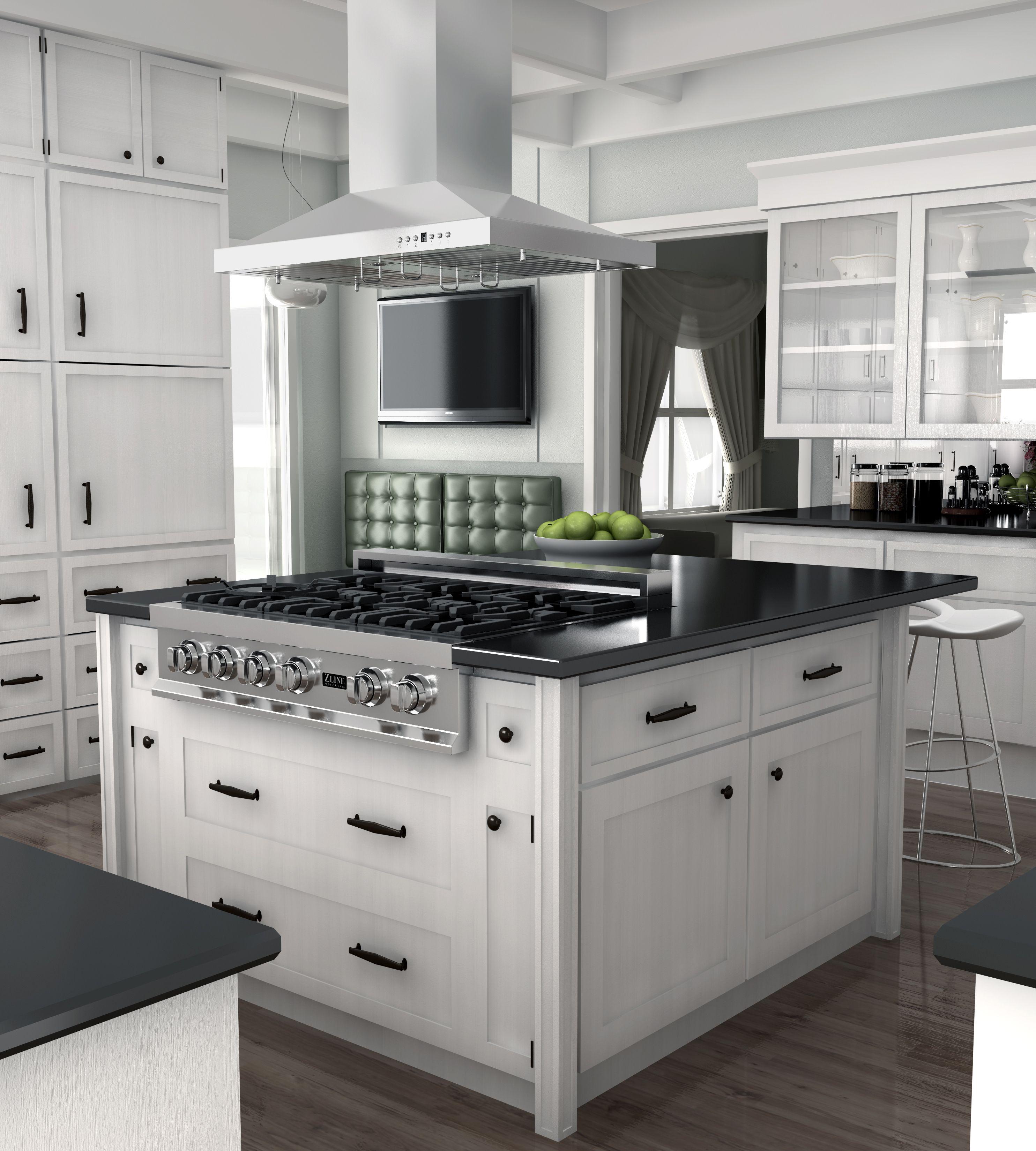 Zline 48 Island Range Hood With 2 Lights Gl2i 48 2 Kitchen Island With Cooktop Kitchen Island With Stove Kitchen Design