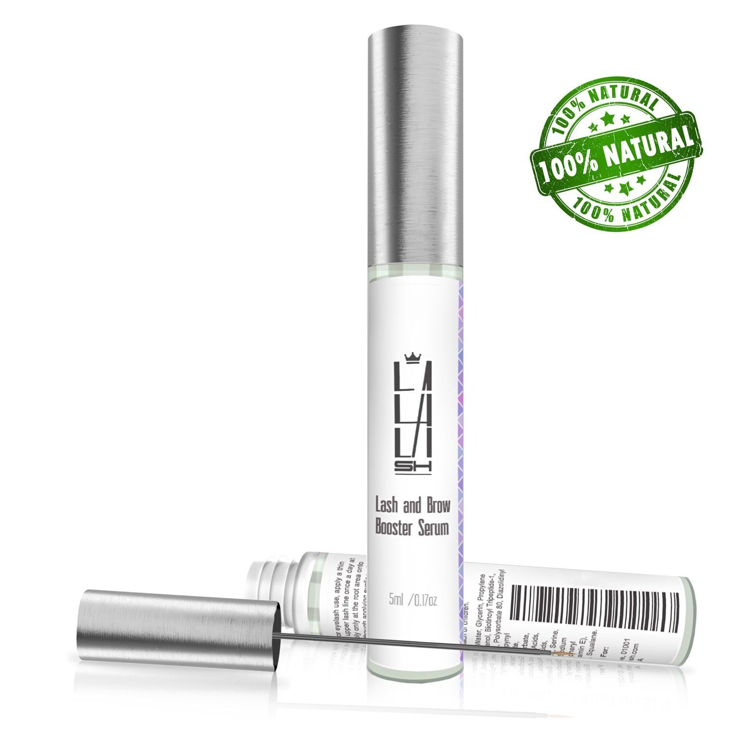 f75f7f93759 Natural Eyelash Growth Serum Eyebrow Growth Serum Made in USA Lash Booster  for Longer Thicker Natural Eyelashes and Fuller Eyebrows Enhancing Lash  Growth ...