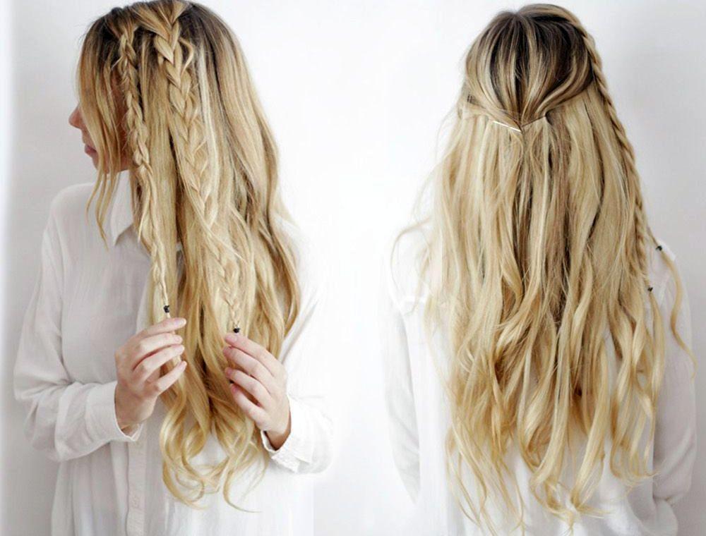 Peinados semirecogidos con trenzas paso a paso