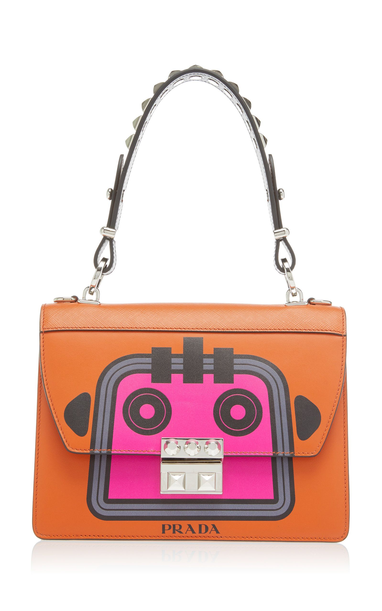 Prada Saffiano Robot Small Shoulder Bag
