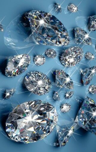 Diamonds In Light Blue Background Diamond Background