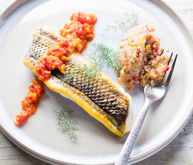 Recette filets de mulet noir taboul de quinoa taboul d licieuses recettes et recette de - Comment cuisiner le quinoa recettes ...