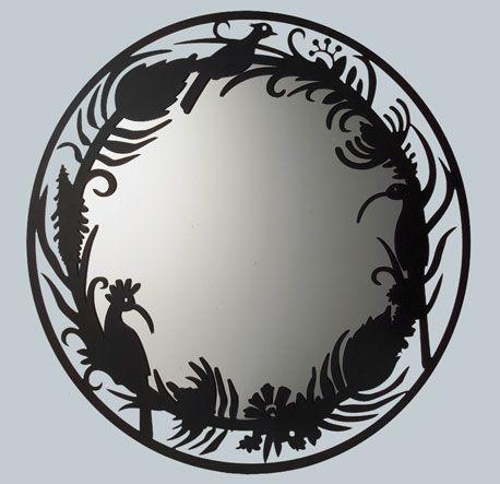 Protea Mirror-TinTown | Black mirror frame, South african ...