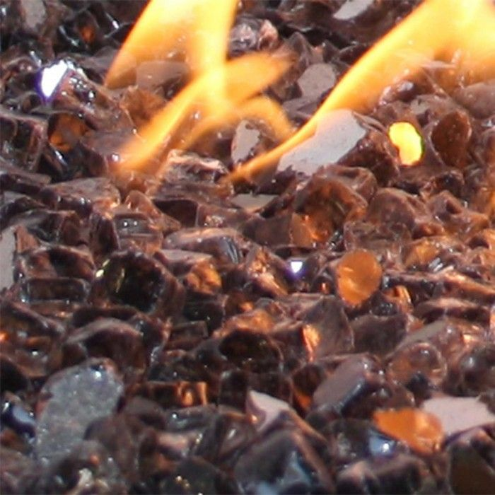 1 2 Gray Reflective Fireglass Fire Glass Glass Fire Pit Clay Fire Pit