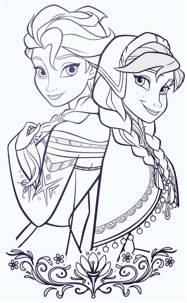 Anna And Elsa Elsa Coloring Pages Cartoon Coloring Pages Disney Coloring Pages