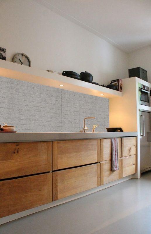 Behang BETONTEGEL Collectie kitchenwall Küche Pinterest - küchen von poco