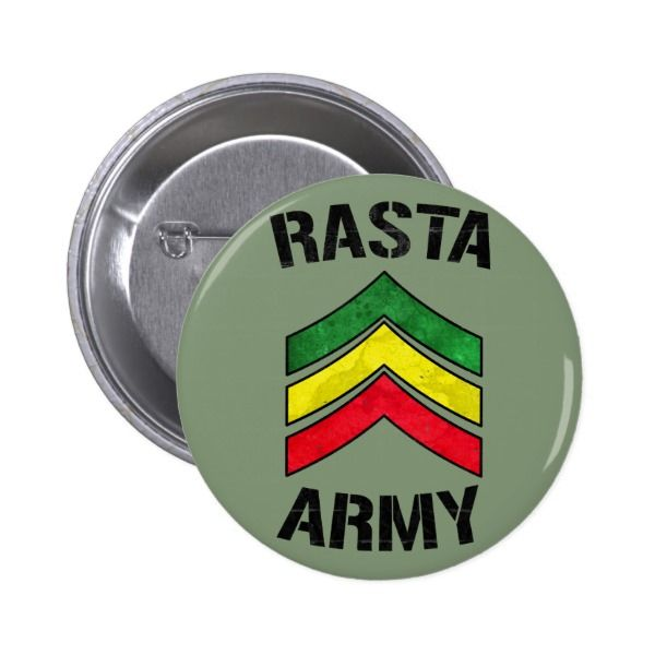 #custom #Jamaican Themed #gifts #button #Oneloveshop -  Rasta army & reggae colors stripes.