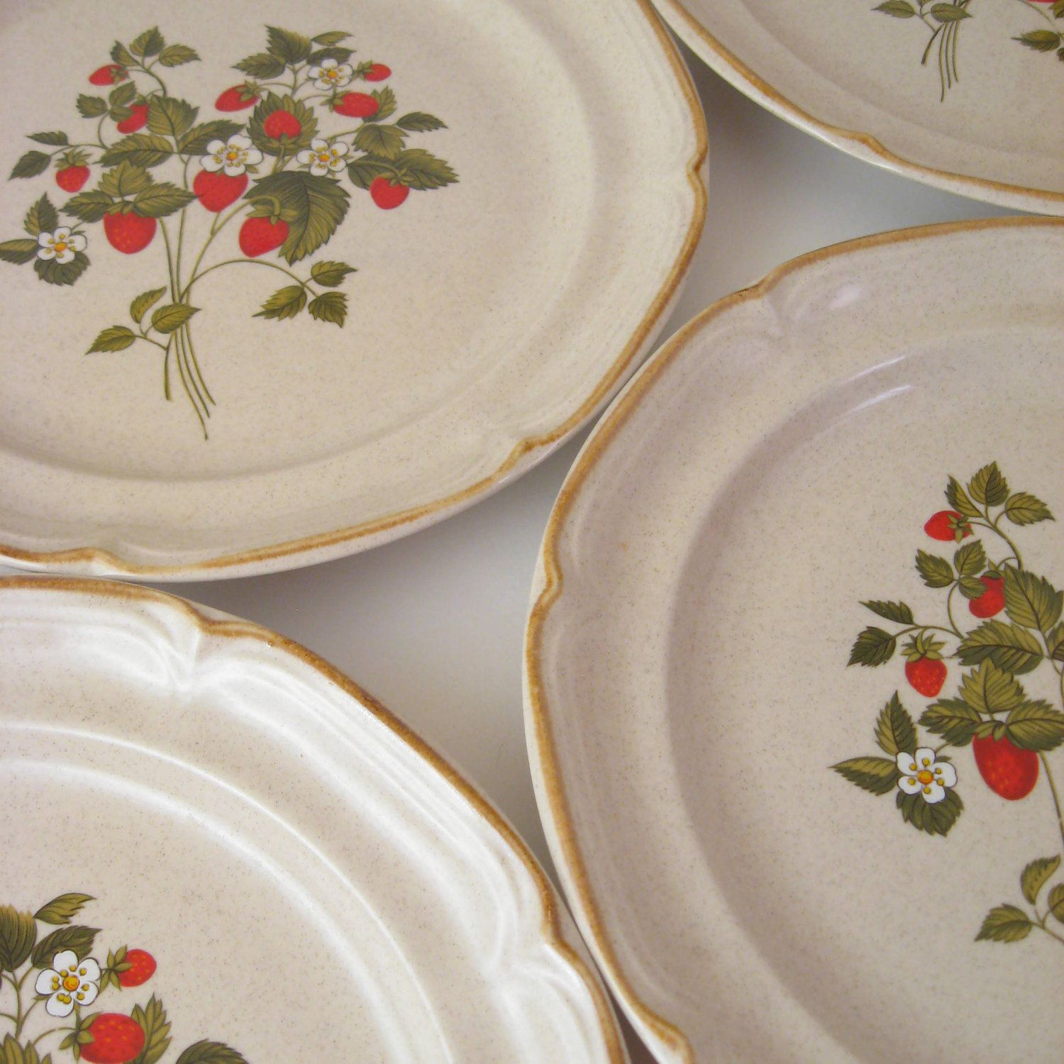 Vintage Dinner Plates, Set of 4, Inter