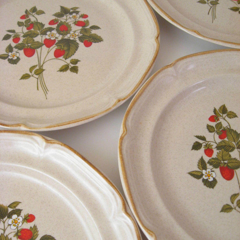 Vintage Dinner Plates, Set of 4, Inter-national Endura ...