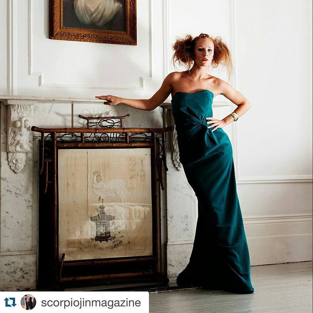 """Published in @scorpiojinmagazine with @repostapp.  @kbtimages presents """"Devil In A Blue Dress"""" in this month's issue #fashion #luxury #beauty #friday  Model: @emilyhakin87 Dress: @chrissiefizz MUA: @rhi_chalmers  Hair: Emma Everest  Full Magazine available at www.scorpiojin.com"""