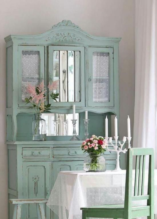 Tips For Shabby And Chic Vintage Cupboard Design Ideas