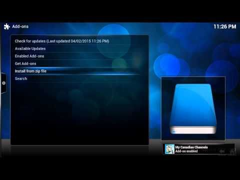 how to watch live canadian tv on kodi