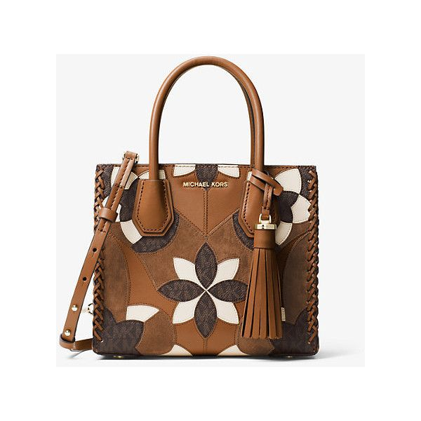 d68c7e2cc0b3 Michael Kors Studio Mercer Floral Patchwork Leather Crossbody ( 278) ❤  liked on Polyvore featuring