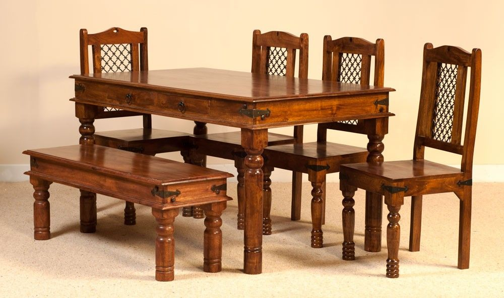 31b85164c2 Tenali Mango 6 Seater Dining Set with Bench | Dining Sets | Dining ...