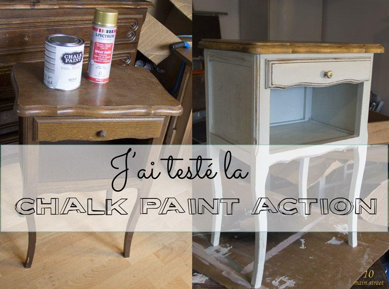 J 39 ai test la chalk paint action et c 39 est plut t bien en fait la craie craie et action - Peinture a la craie pour meuble ...