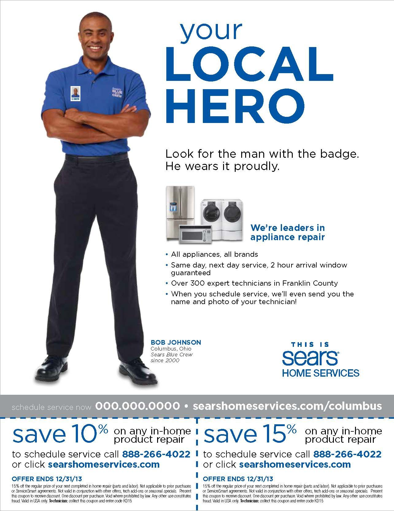 Ad For Sears Home Services Courtesy Of Mab Co Mab Co Pinterest