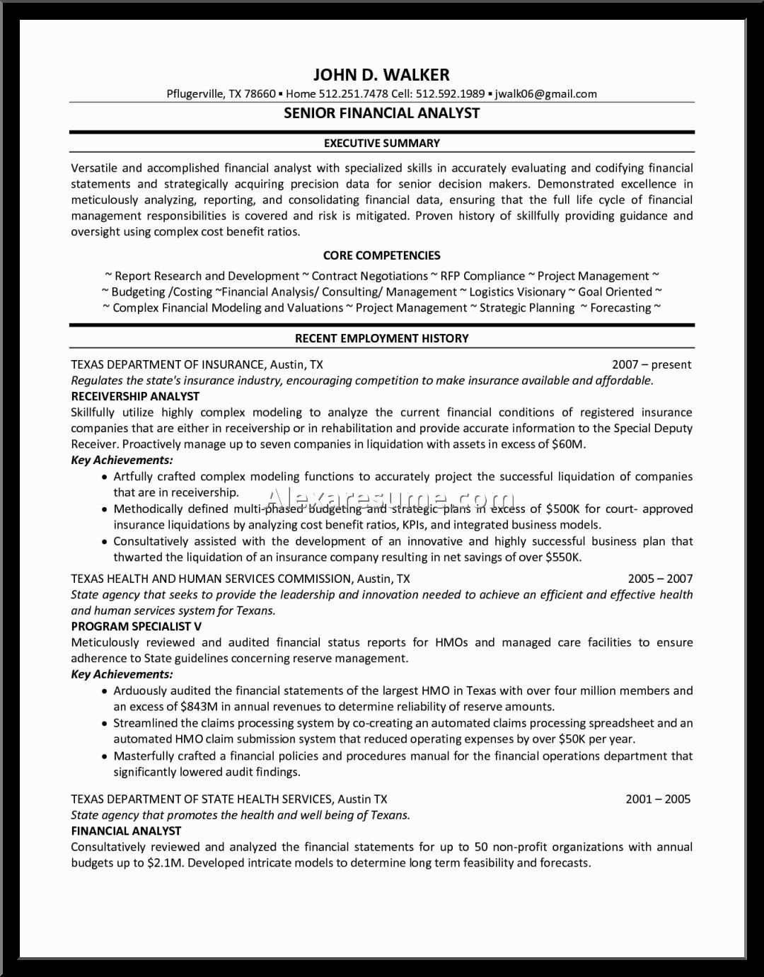 Senior Financial Analyst Resume Analyst Resume Financial Sample Formatting Ideas Mistakes Faq