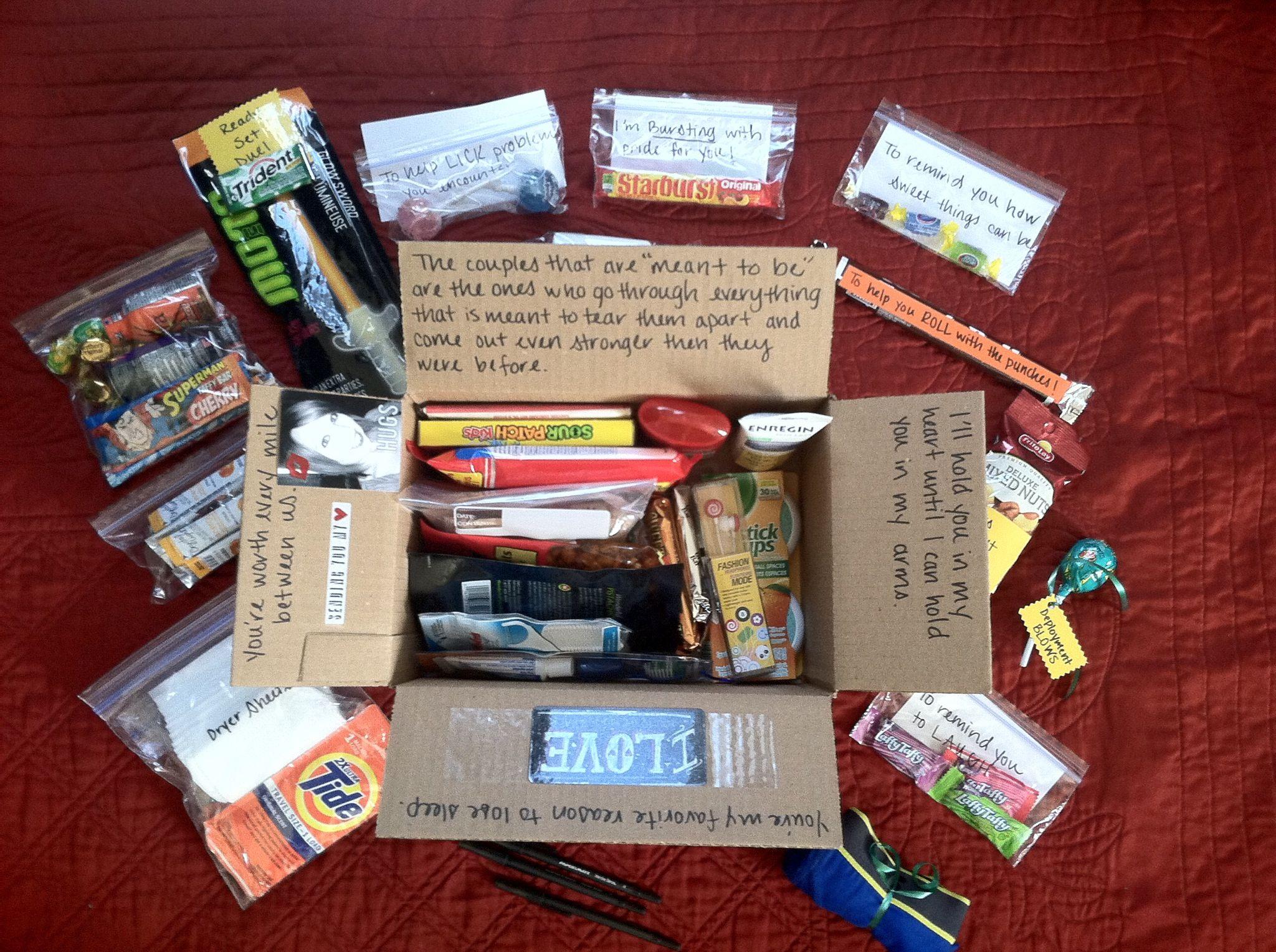 Halfway box deployment gifts military love deployment