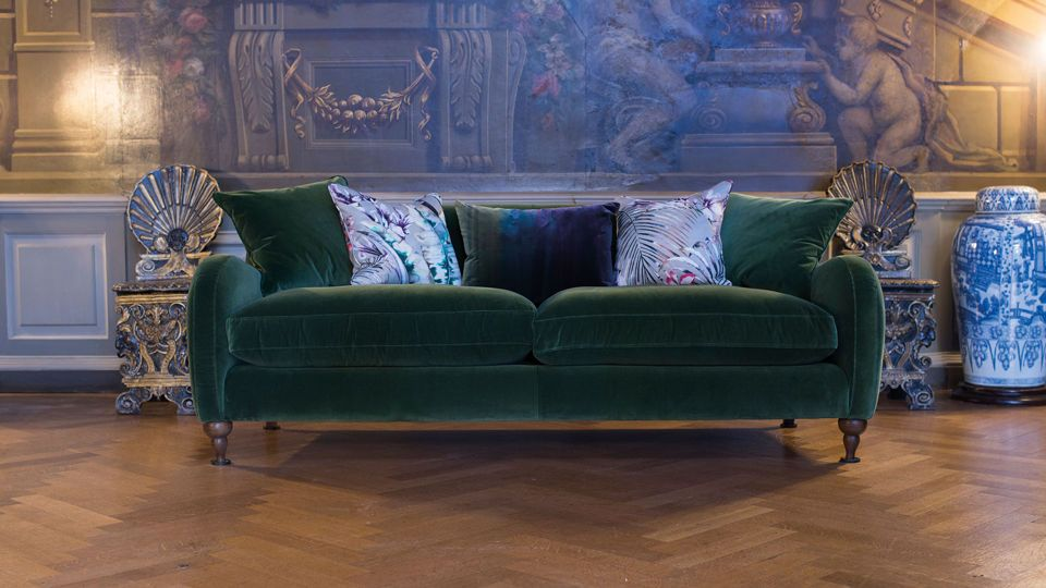 The Leconfield Velvet Sofa, Seriously Beautiful, 30s Inspired, Glamorous,  Curvy, Large