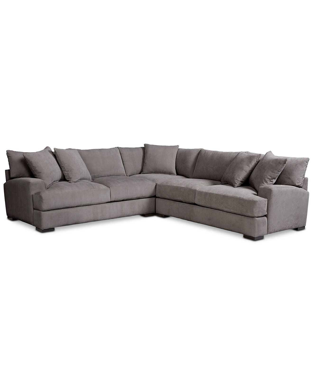 Rhyder 3 Pc L Shaped Fabric Sectional