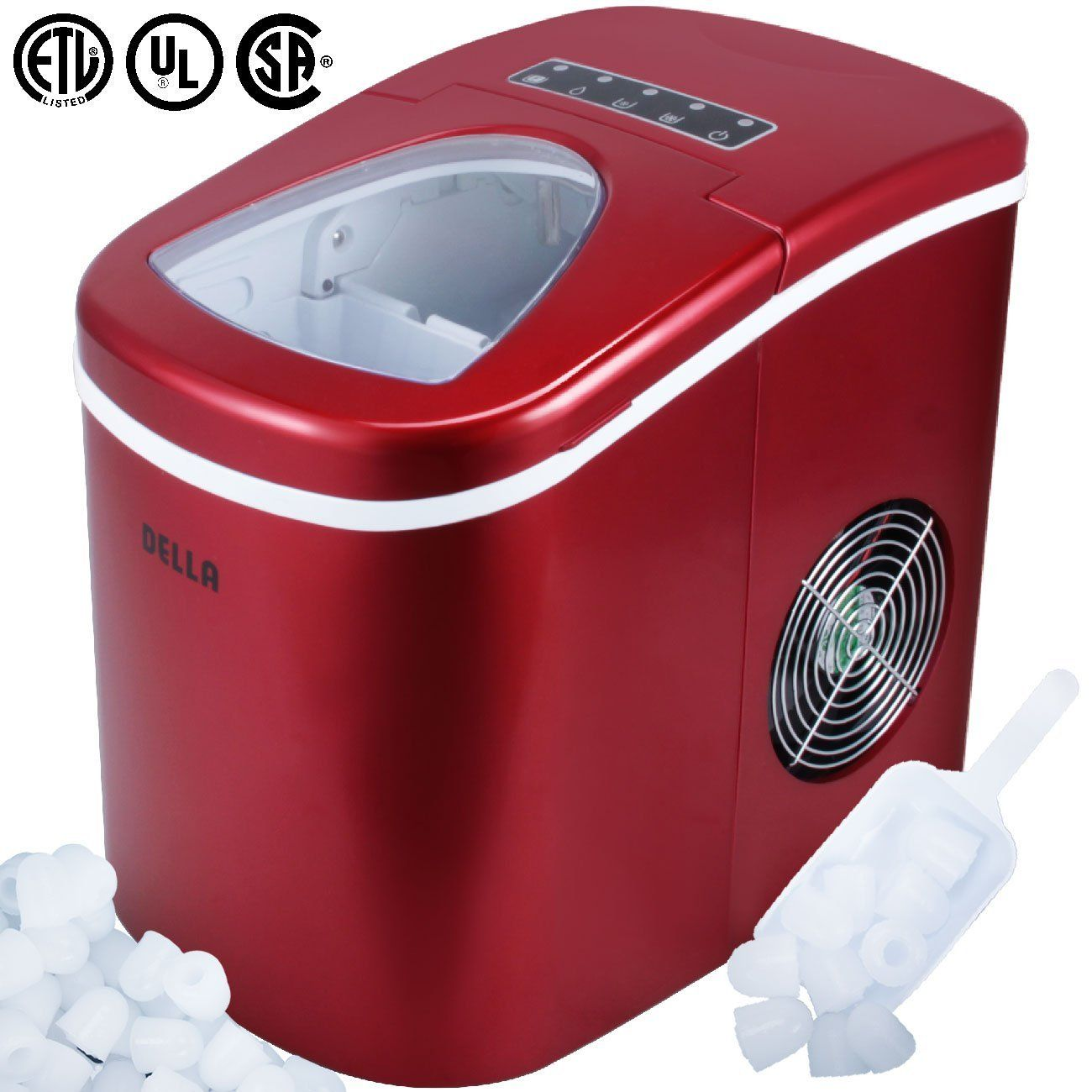 Della Portable Ice Maker W Easy Touch Yield Up To 26 Pounds Of