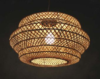 Entry double lamp shade hand woven from bamboo pendant lamp one by entry double lamp shade hand woven from bamboo pendant lamp one by viwei aloadofball Choice Image