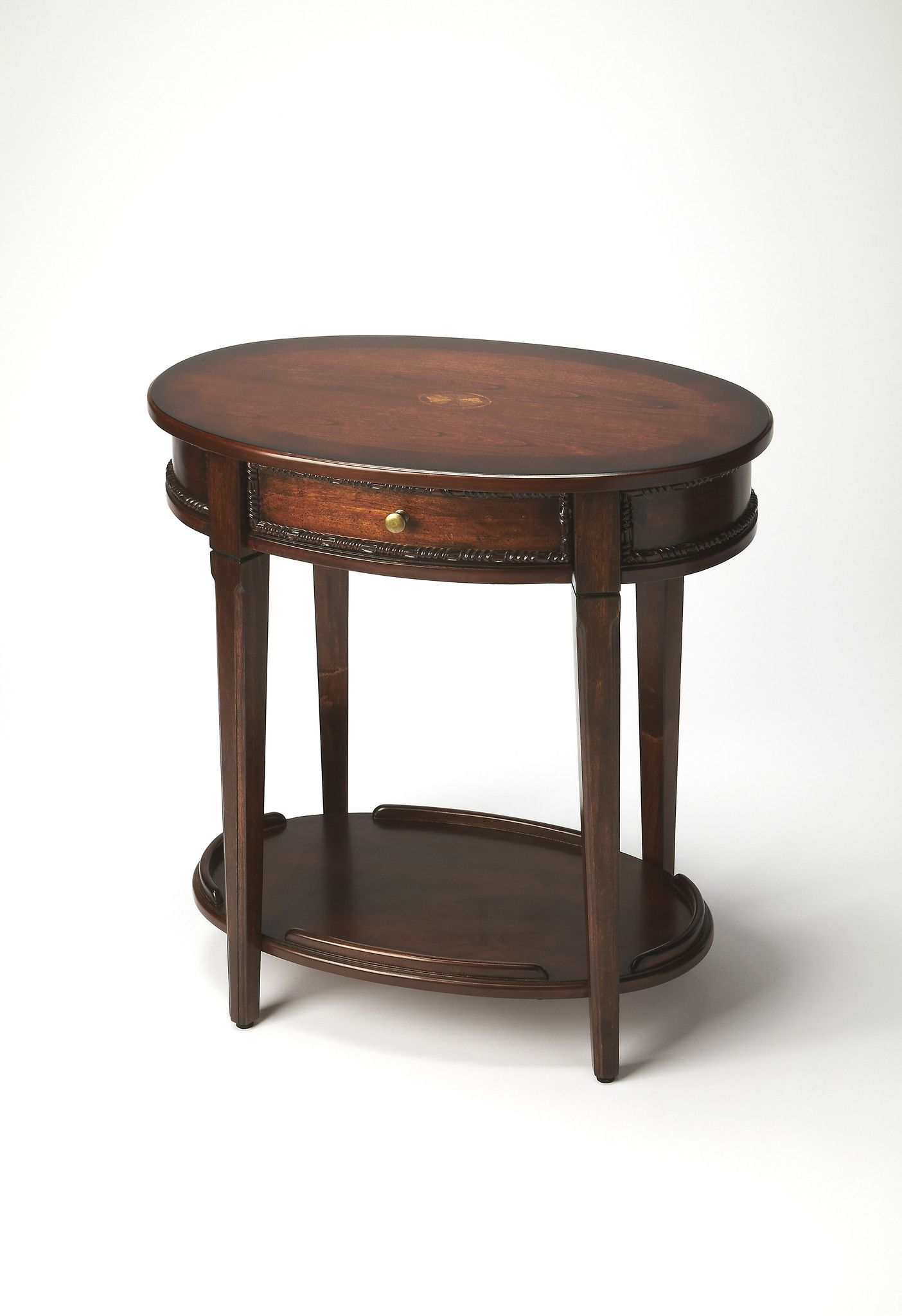 office side table. Oval Office Coffee Table. Adelaide Traditional Side Table Dark Brown 5