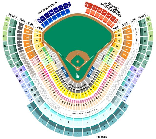 Seating Chart Dodger Tickets Giants Tickets Dodger Stadium