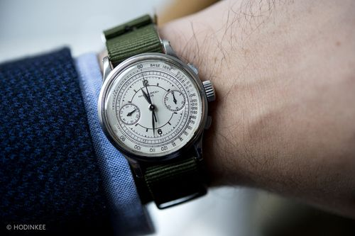 Patek Philippe Sector Dial Chronograph Reference 530 In Steel on a freakin' NATO - so so cool.