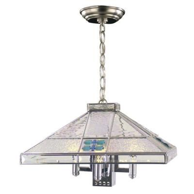 Dale Tiffany Square 5 Light Silver Hanging Fixture STH11034   The Home Depot
